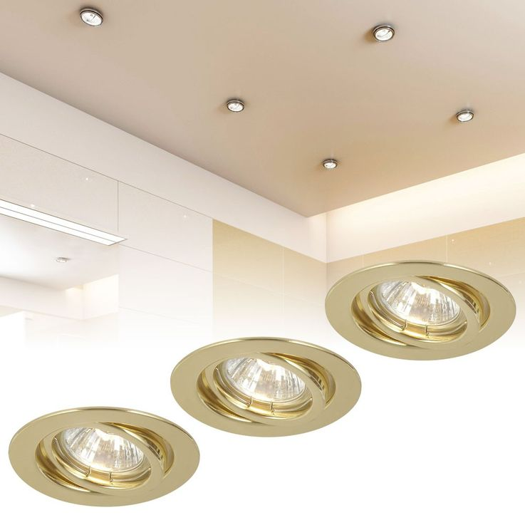 Recessed light Recessed Spot Set of 3 50 Watt Spot Light Bulb Lamp Globo 12114-3 – Bild 2