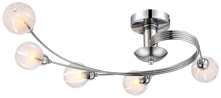 Ceiling lighting ceiling lamp lighting chrome glass lamp light Globo 56397-5 – Bild 1