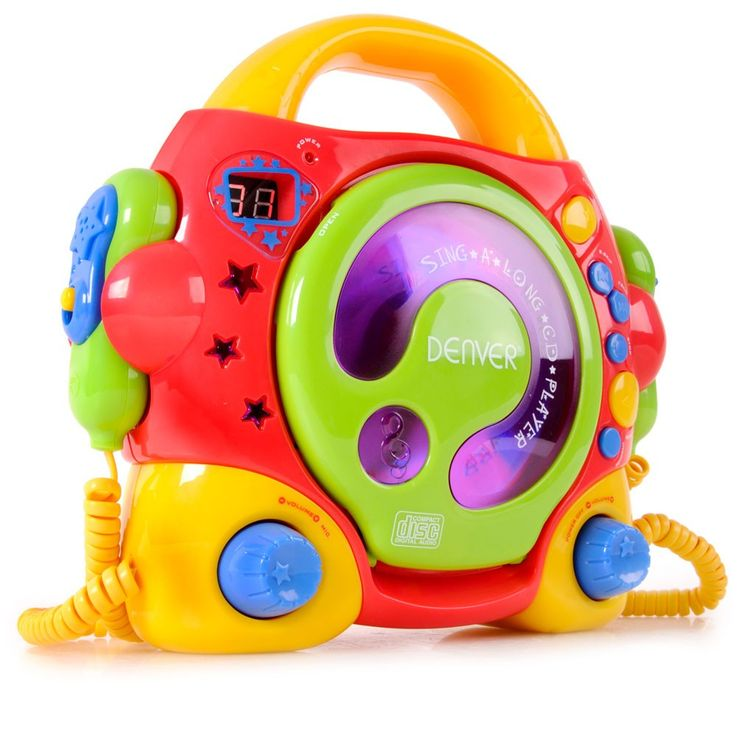Children kids girls karaoke music system cd player sing-a-long + 2 microphones TCK-50 multi – Bild 1