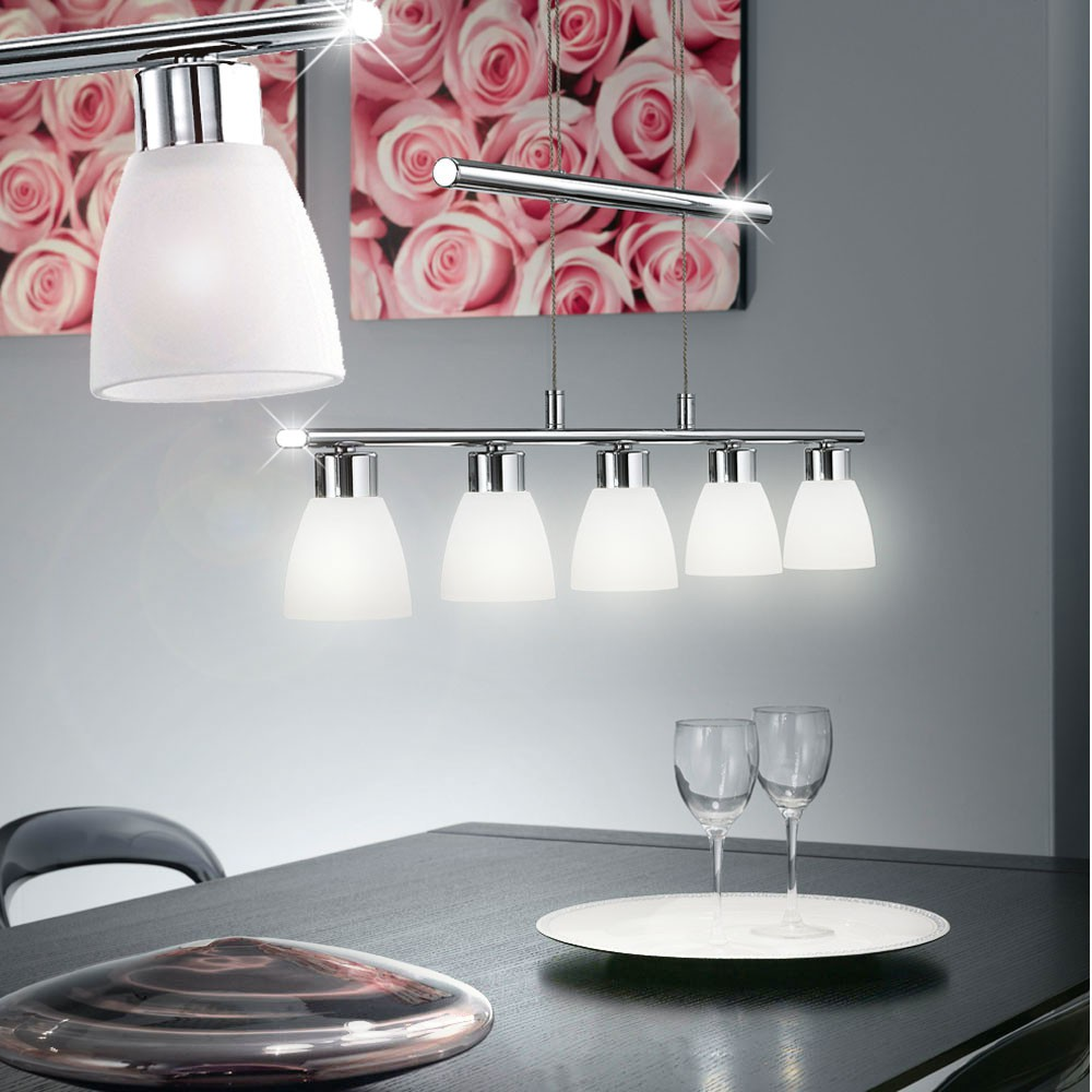 suspension del lustre luminaire plafond lampe led cuisine salle manger verre ebay. Black Bedroom Furniture Sets. Home Design Ideas