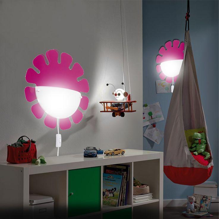 Hochwertige Kinderzimmer Wandleuchte in pink – Bild 3