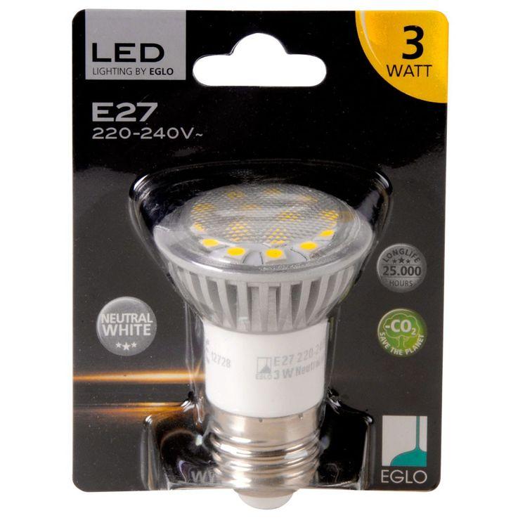 3W E27 LED LEuchtmittel 180lm 4200K neutralweiß Eglo 12728 – Bild 1