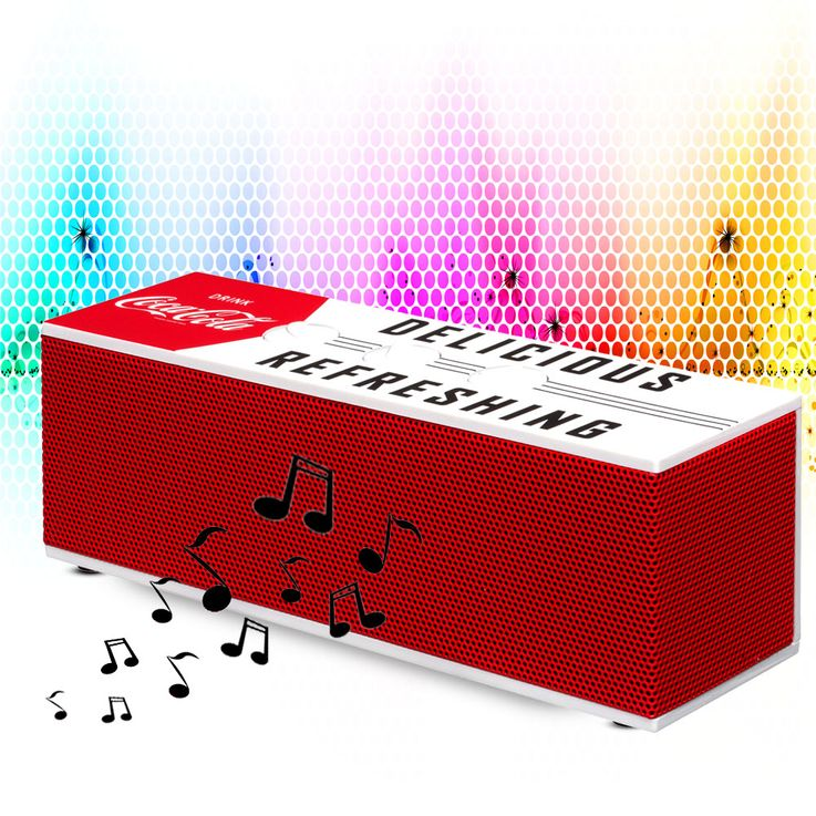Coca Cola Bluetooth speakers portable subwoofer music 1,5 inch Big Ben Coca BT01-4 – Bild 2