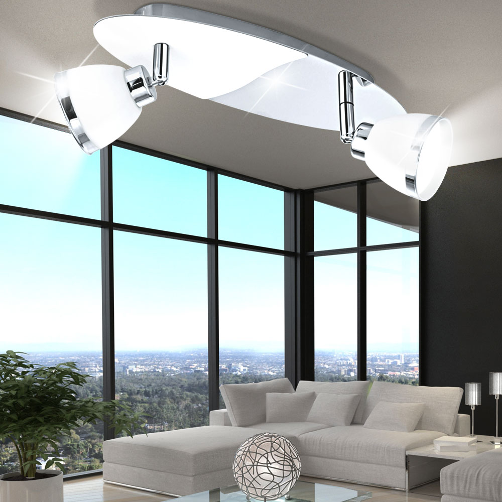 clairage plafonnier luminaire plafond lampe spots mobiles verre g9 couloir ebay. Black Bedroom Furniture Sets. Home Design Ideas
