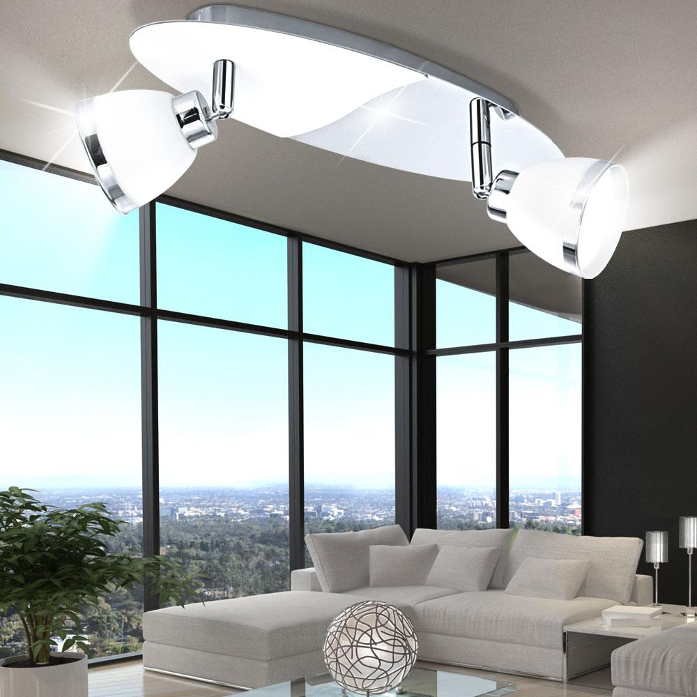 clairage plafonnier luminaire plafond lampe spots mobiles verre g9 couloir ebay. Black Bedroom Furniture Sets. Home Design Ideas