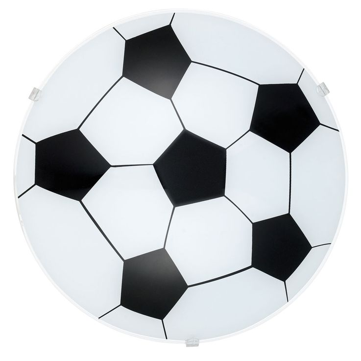 Wall lamp children game room ceiling lighting round glass football lamp satin Eglo 87284 – Bild 1