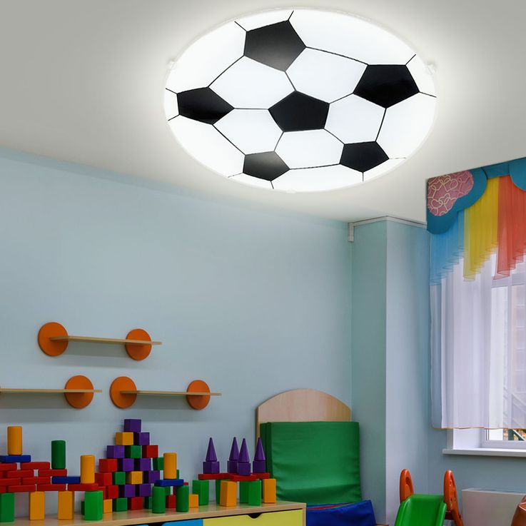 Wall lamp children game room ceiling lighting round glass football lamp satin Eglo 87284 – Bild 3