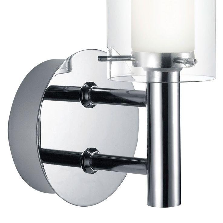 Außen Beleuchtung Wand Lampe Strahler Glas satiniert weiß klar Leuchte Eglo 88193 – Bild 9