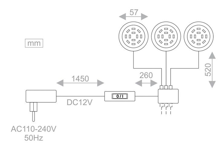 Einbaustrahler 3er Set TRILED inklusive SMD LED-Leuchtmittel – Bild 6