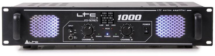 1000 Watt DJ PA Party Verstärker Endstufe Amplifier AUX Line In LTC-1000 – Bild 2