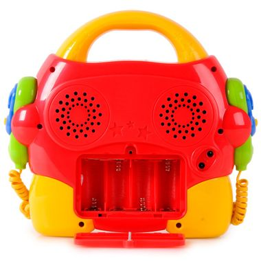 Portable Kinder Karaokeanlage 2 Mikrofone CD Player multi sing a long + Netzteil – Bild 5