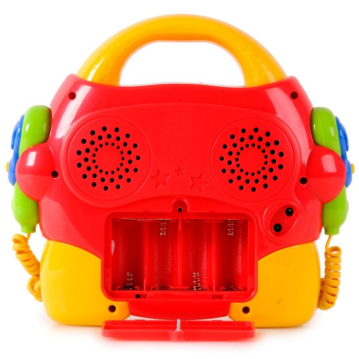 Portable kids karaoke machine 2 microphones CD player Denver tck 50multi sing a long + power supply – Bild 5