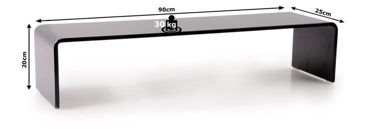 Glasaufsatz HAGEN mit 12mm dicker Glasplatte in schwarz – Bild 6