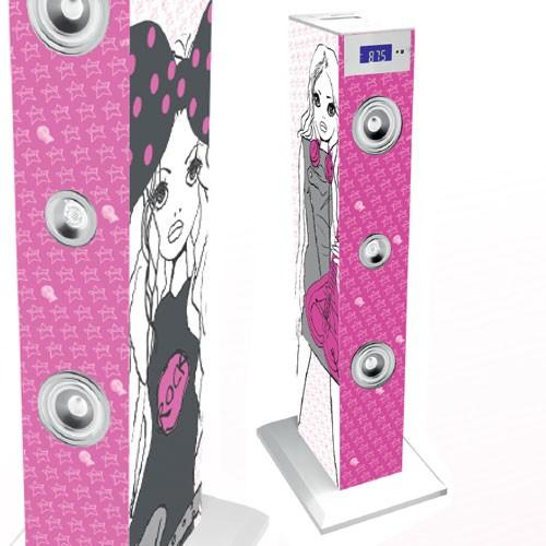 usb musikanlage kinder turmlautsprecher stereoanlage. Black Bedroom Furniture Sets. Home Design Ideas