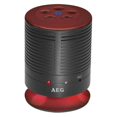 Bluetooth music equipment handsfree stereo system USB AUX AEG BSS 4809 red – Bild 1