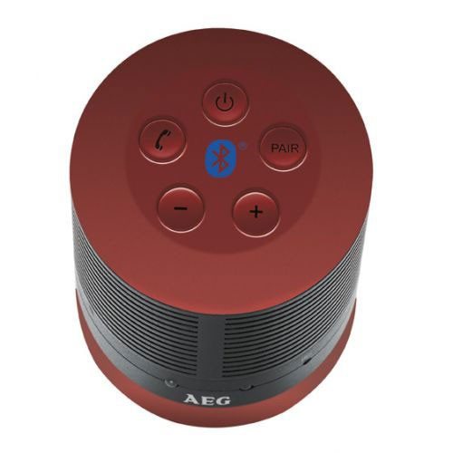 Bluetooth music equipment handsfree stereo system USB AUX AEG BSS 4809 red – Bild 2