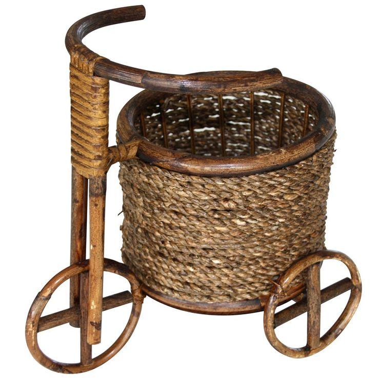 Rattan flower pot Flower Tub planter basket wheelbarrow Flower Pots decorative tricycle BHP 26 variant – Bild 8