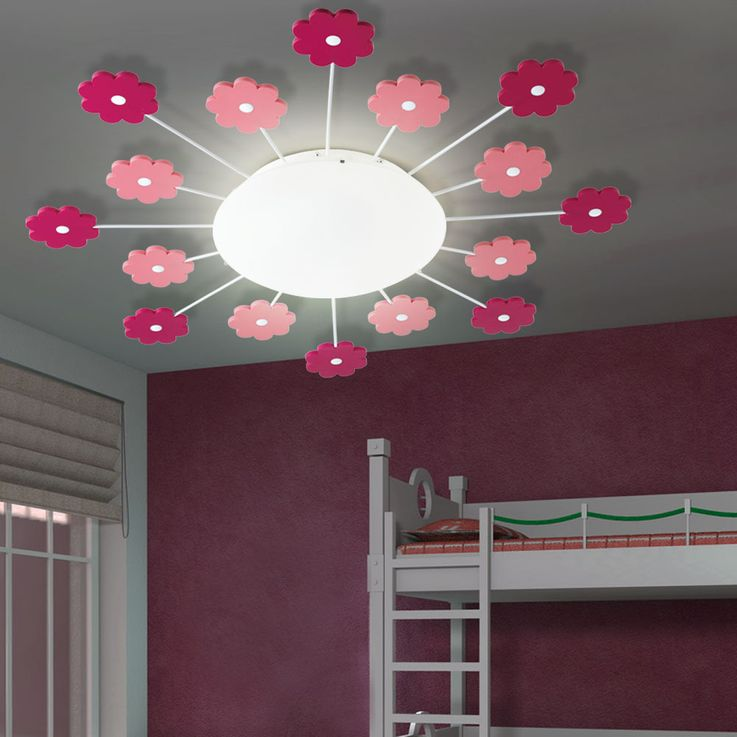 Wall lamp girl game room lighting flowers kids ceiling lamp pink pink Eglo1 92147 – Bild 4