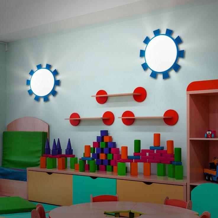 Wand Leuchte Decken Lampe Beleuchtung Kinder Zimmer Strahler Sonne Eglo 92129 – Bild 5