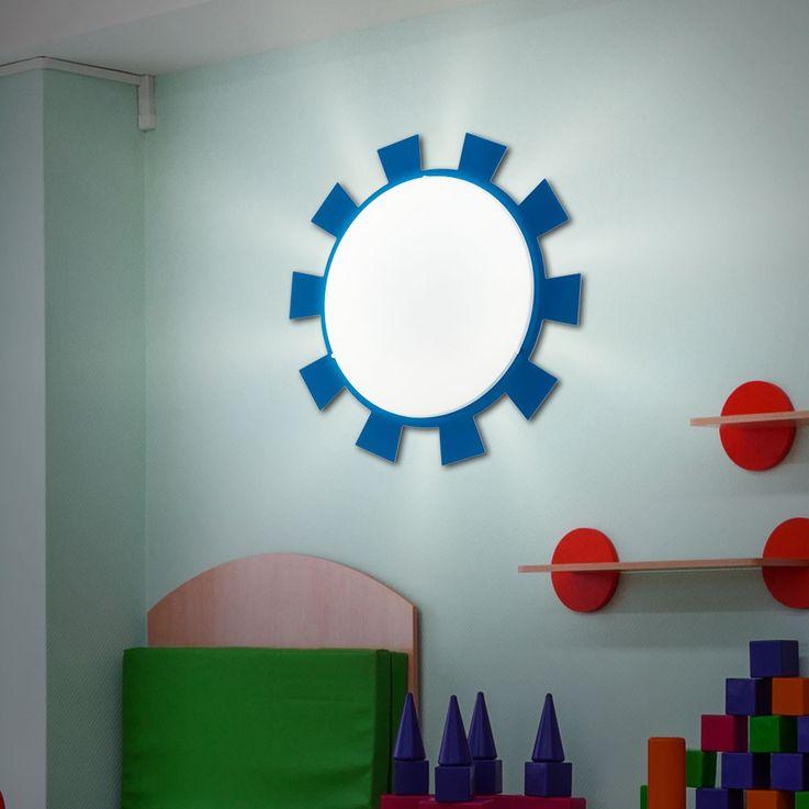Wand Leuchte Decken Lampe Beleuchtung Kinder Zimmer Strahler Sonne Eglo 92129 – Bild 2