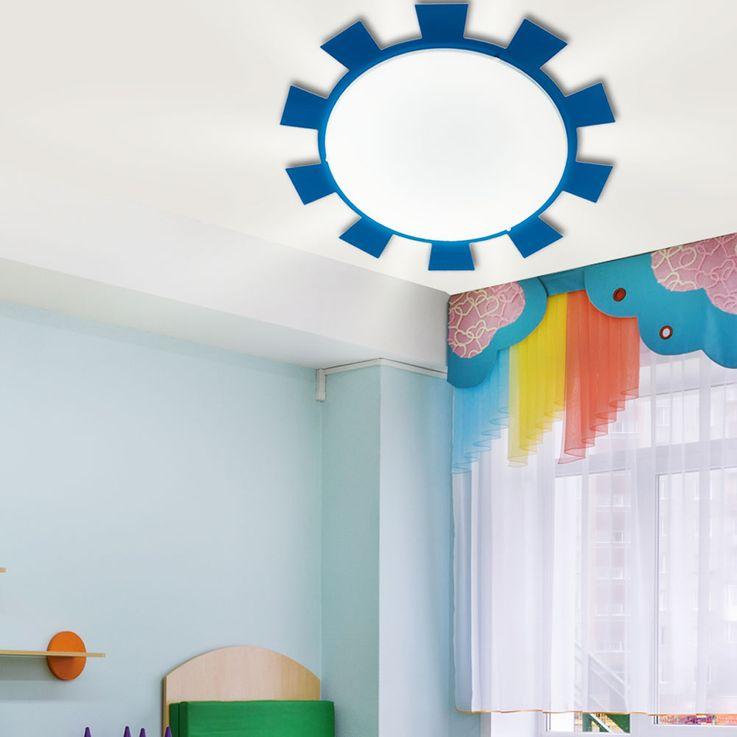 Wand Leuchte Decken Lampe Beleuchtung Kinder Zimmer Strahler Sonne Eglo 92129 – Bild 3