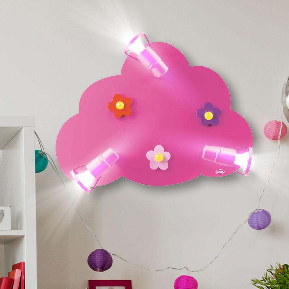 decken led wand spot lampe m dchen leuchte spiel kinder zimmer beleuchtung wolke ebay. Black Bedroom Furniture Sets. Home Design Ideas