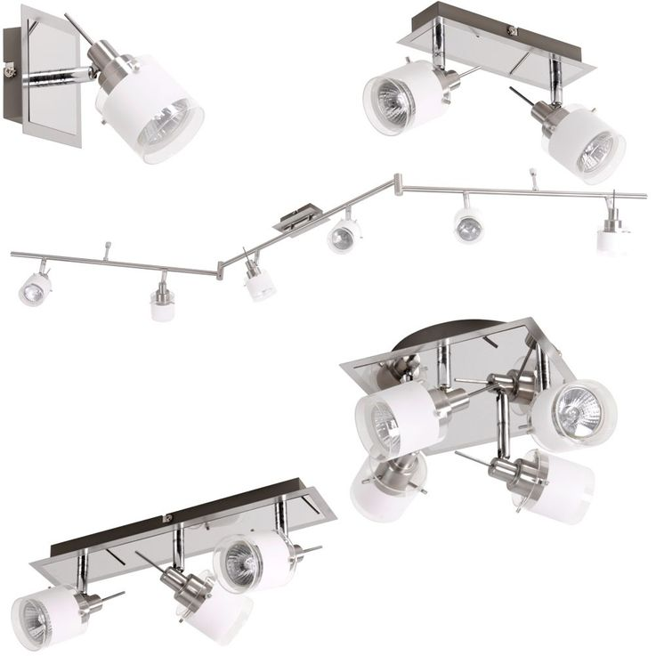 Wall-ceiling spot lighting GU10 halogen lamp light chrome variant ASOLA – Bild 1