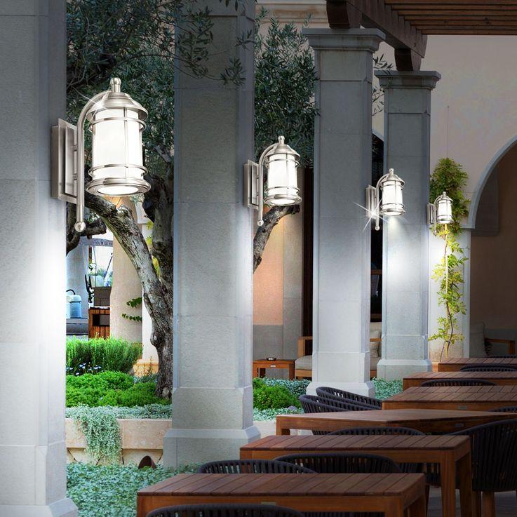 Mur façades Projecteur d'extérieur éclairage inox terrasses parc noble Eglo 90208 – Bild 6