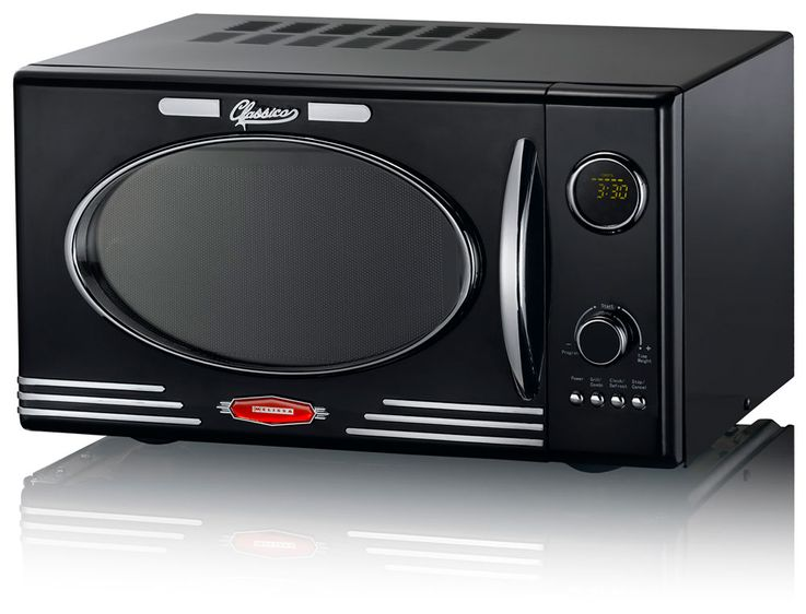 900 Watt Retro Microwave Black 25 Liters 1000W Grill 8 Programs  Melissa 16330103 – Bild 1