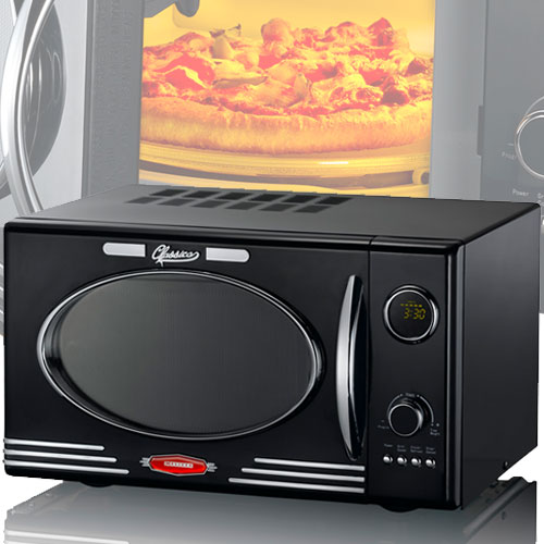 900 Watt Retro Microwave Black 25 Liters 1000W Grill 8 Programs  Melissa 16330103 – Bild 3