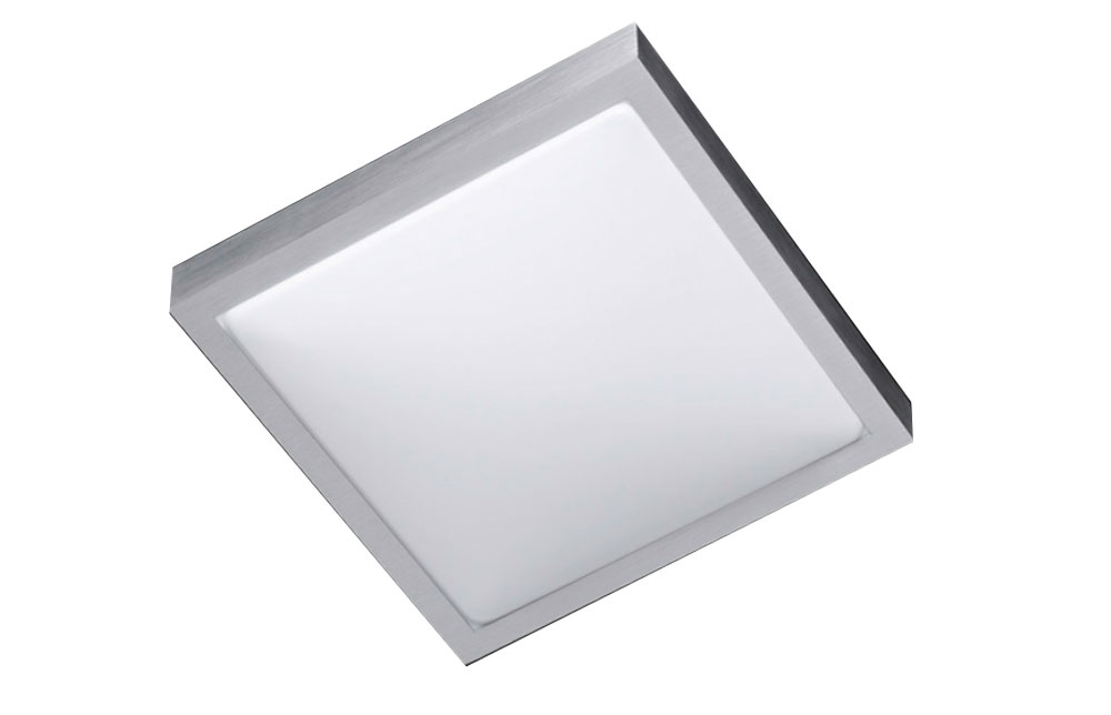 Plafonnier led carré nickel mat wofi mila lampes meubles