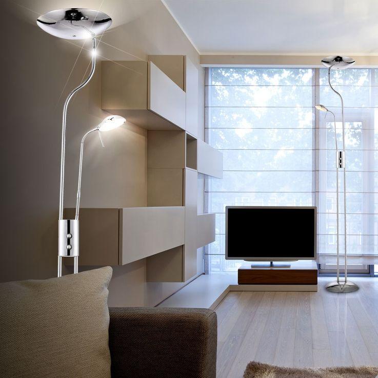 LED floor lamp chrome floor lamp living room reading lamp floor lamp lamp  Globo 59939 – Bild 4