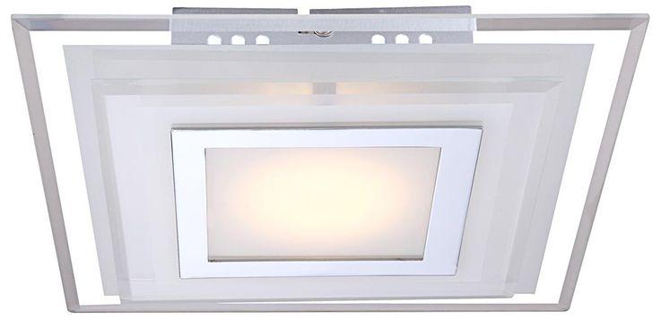 Éclairage plafonnier DEL carré chrome verre 7 watts lampe luminaire Globo AMOS 41684-2 – Bild 3