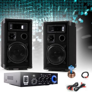 PA Party Kompakt Musikanlage Boxen Verstärker Bluetooth USB SD MP3 DJ-Compact 3 – Bild 2