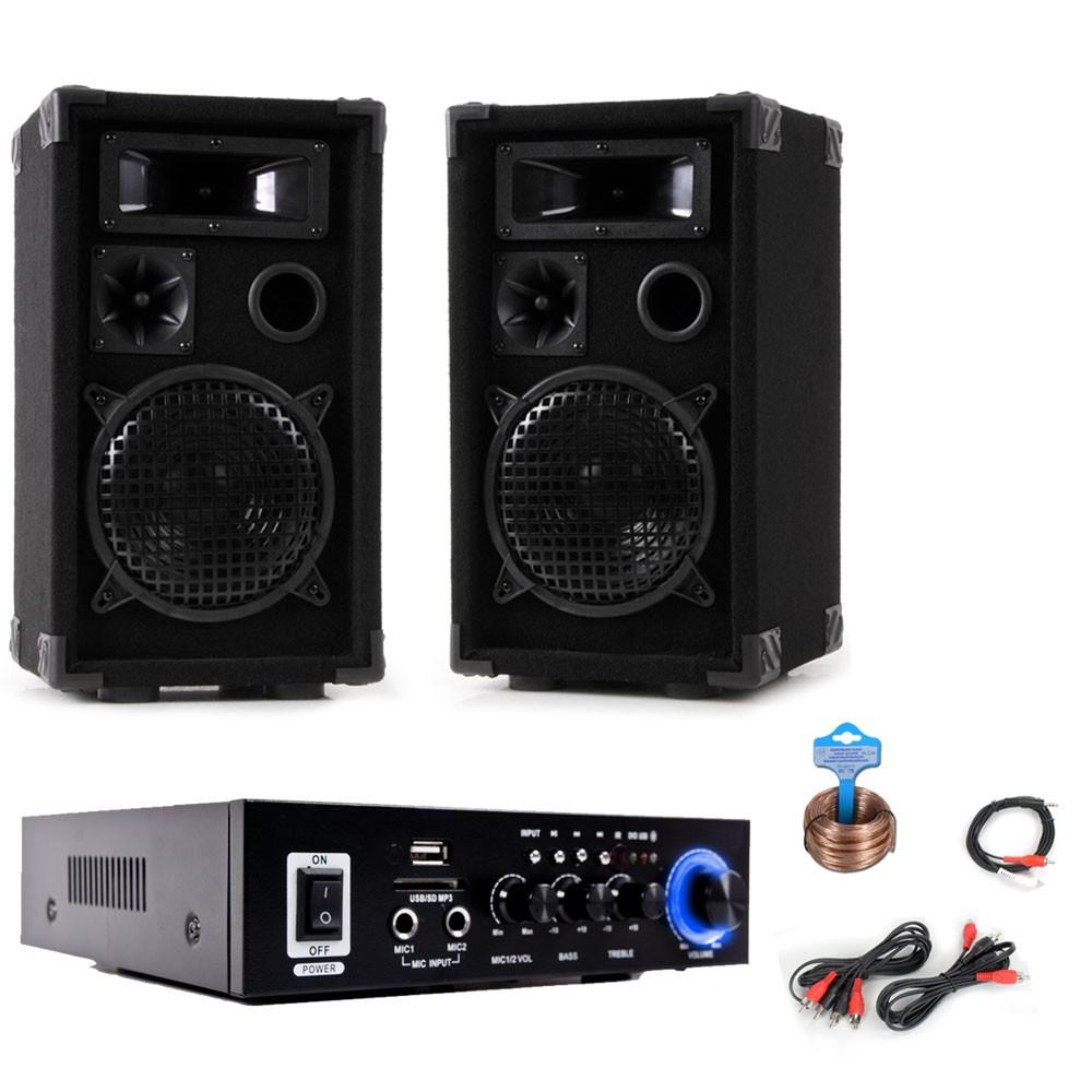 anlage mit pa boxen und bluetooth verst rker dj compact 3 audio technik dj equipment. Black Bedroom Furniture Sets. Home Design Ideas