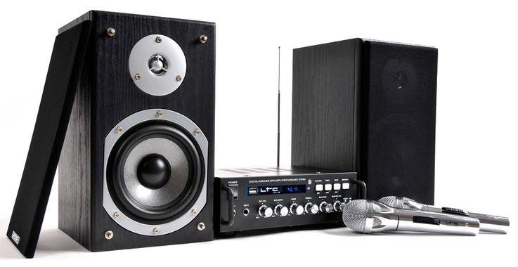 Party Musikanlage Verstärker Boxen Mikro LTC Karaoke-Star 4 – Bild 1