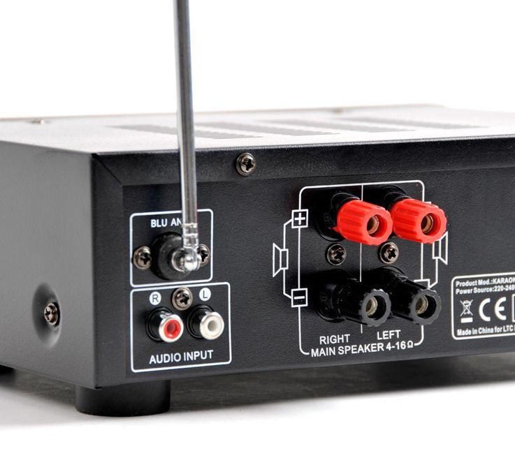 Party Musikanlage Verstärker Boxen Mikro LTC Karaoke-Star 4 – Bild 4