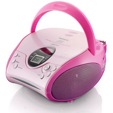 Kinder Mädchen Stereoanlage CD-Player MP3 Musikanlage Radio Radiorecorder Pink inklusive Hello Kitty Sticker – Bild 2