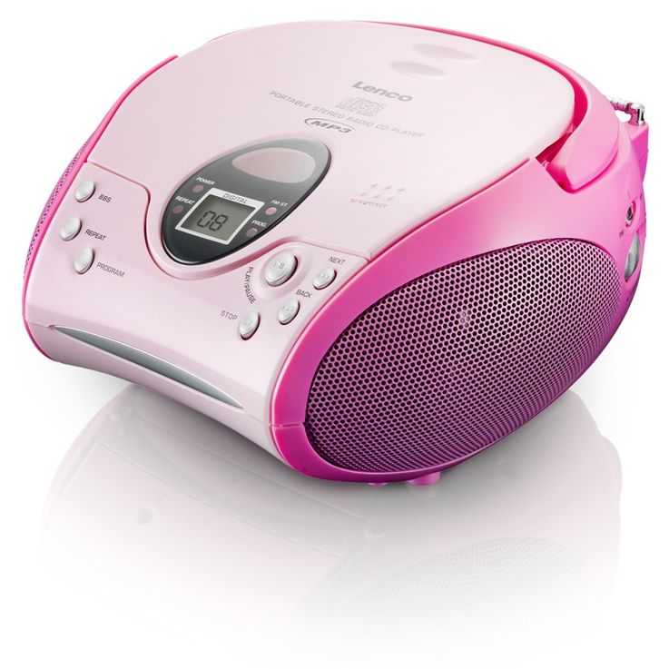 Stereo System CD/MP3-Player Radio Recorder Kids System pink incl. Hello Kitty Stickers – Bild 3