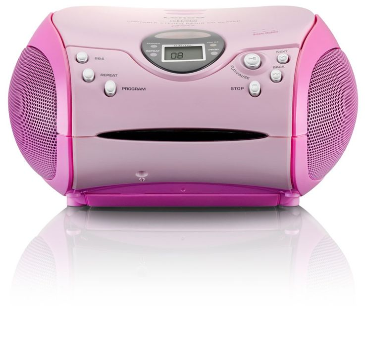 Kinder Mädchen Stereoanlage CD-Player MP3 Musikanlage Radio Radiorecorder Pink inklusive Hello Kitty Sticker – Bild 4