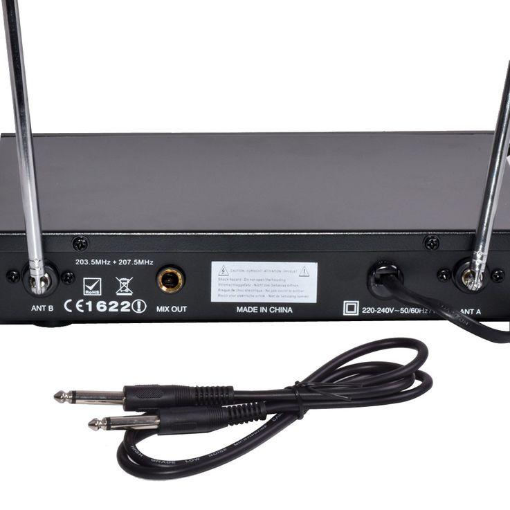 Funkmikrofonset 2-Kanal Empfänger Headset System Ibiza VHF2H – Bild 4