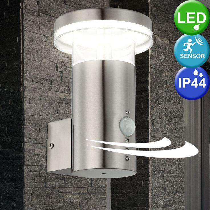 LED outdoor light IP44 stainless steel motion 10.5 watts Wall lamp Globo Sergio 34145 S – Bild 2