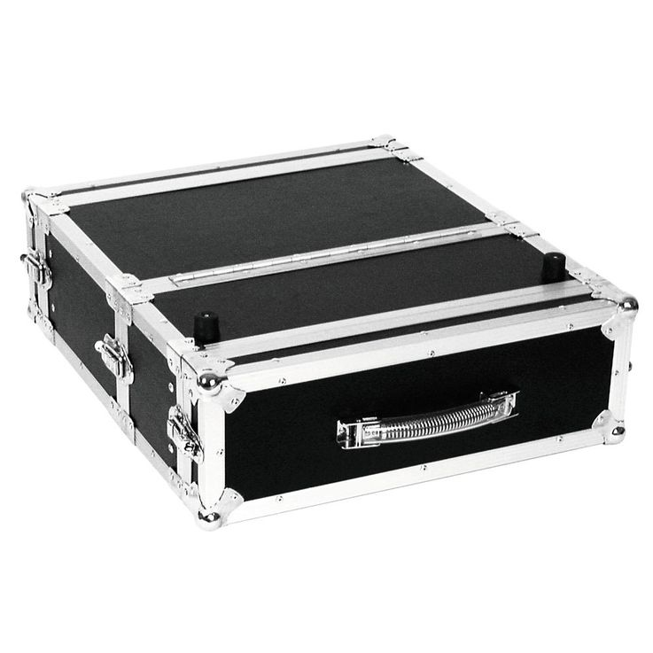 Doppel-CD-Player-Case Tour Professionelles DJ-Flightcase Omnitronic Pro 3HE sw – Bild 2