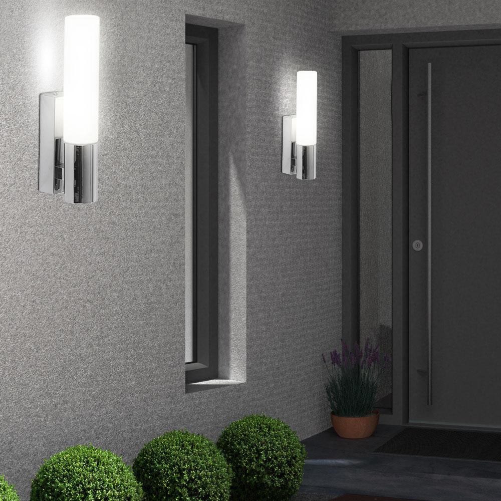 verchromte wandbeleuchtung in edlem design lampen m bel r ume diele flur. Black Bedroom Furniture Sets. Home Design Ideas