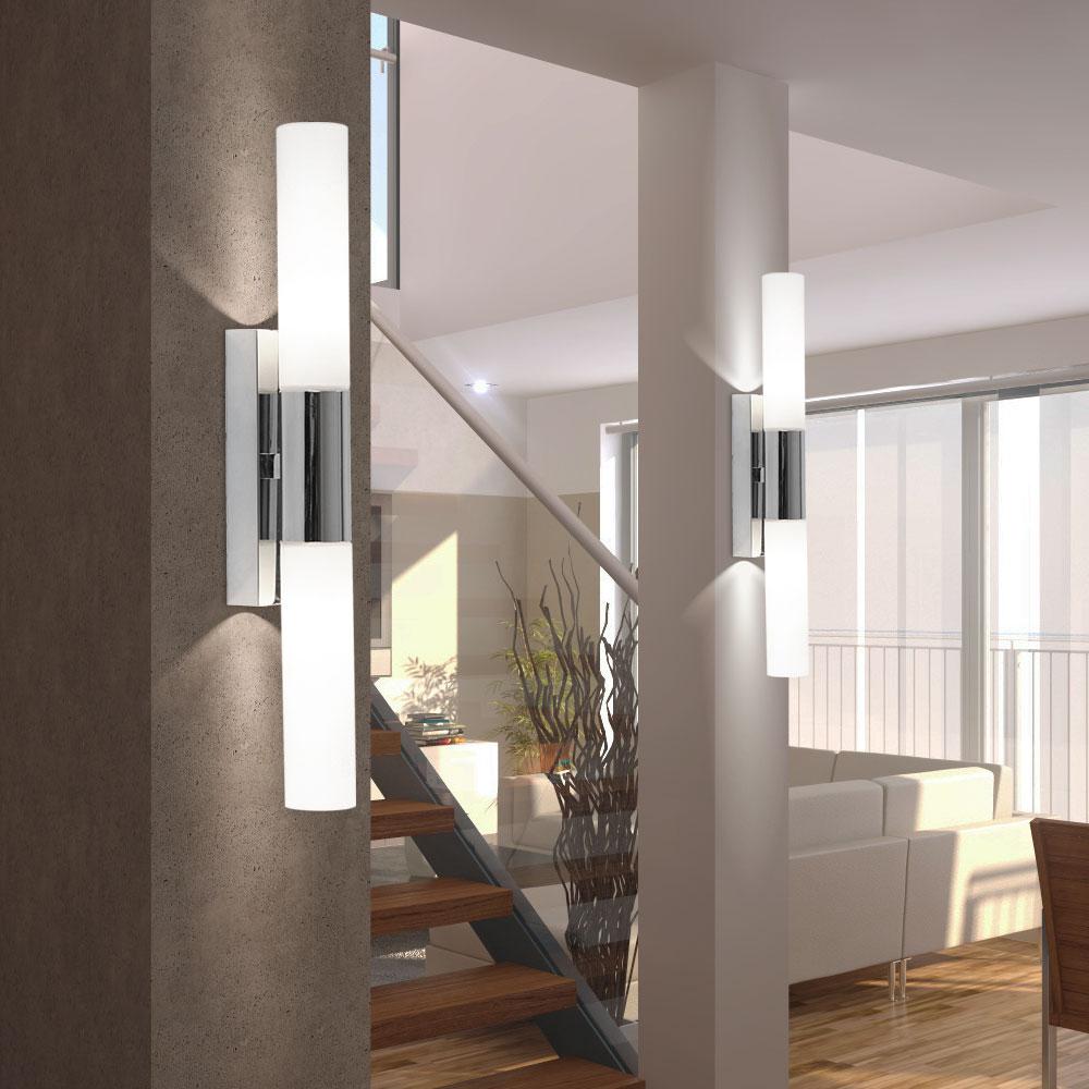 wand lampe badezimmer bad leuchte beleuchtung licht ip44 spot lampe dusche neu ebay. Black Bedroom Furniture Sets. Home Design Ideas