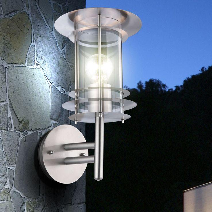 lampe extérieur acier affiné éclairage extérieur lampe pour le jardin applique Globo Miami 3151 – Bild 4