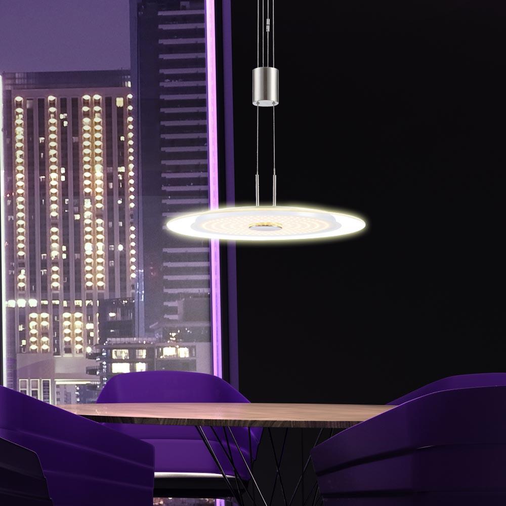 21 watt led h nge leuchte h henverstellbar wohnzimmer esszimmer pendel lampe neu ebay