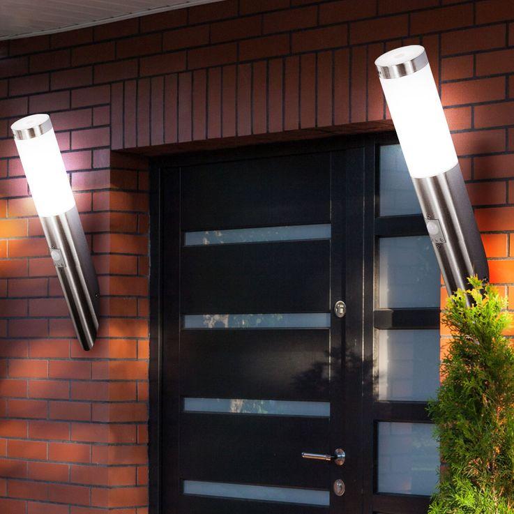 Außenlampe Wandleuchte Bewegungsmelder Edelstahl IP44 Außenbeleuchtung Globo BOSTON 3157S – Bild 8