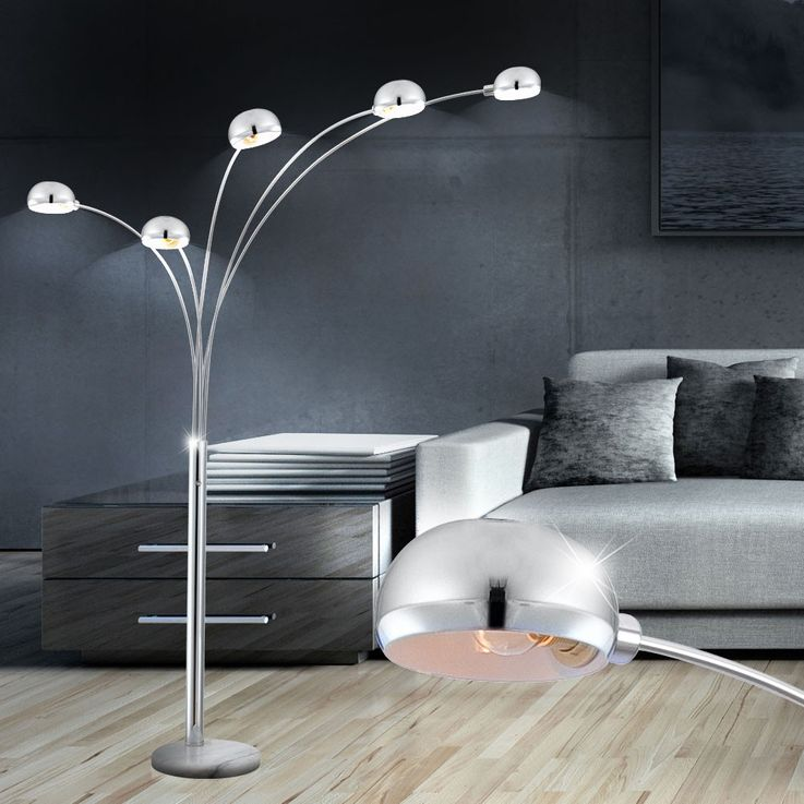Stehleuchte Beleuchtung Lampe Leuchte Marmor Sockel Metall Globo 58228S – Bild 5