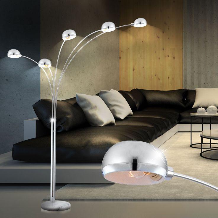Stehleuchte Beleuchtung Lampe Leuchte Marmor Sockel Metall Globo 58228S – Bild 2